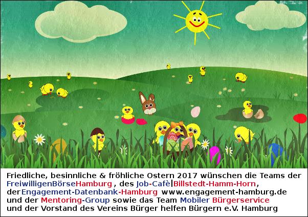 FreiwilligenBörse wünscht friedliche, besinnliche & fröhliche Ostern 2017