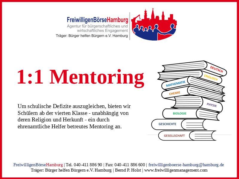 1:1 Mentoring - FreiwilligenBörseHamburg