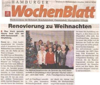 Renovierung des AWO Seniorentreffs in Hamburg-Hamm