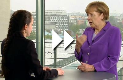 Unsere Bundeskanzlerin Angela Merkel direkt zum Thema Ehrenamt
