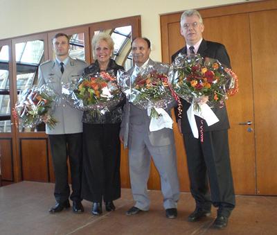Bürgerpreis Hamburg-Mitte 2008; die Gewinner v.l.: Ferid Giebler, Martha Sarosi, Azzedine Khemiri, Uwe Rütz