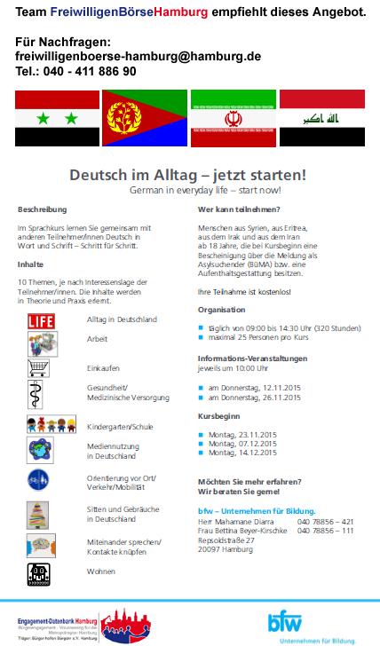 Flyer Deutsch im Alltag