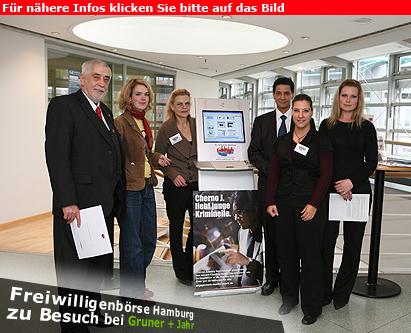 Freiwilligenbörse Hamburg war zu Gast im Verlagshaus Gruner + Jahr