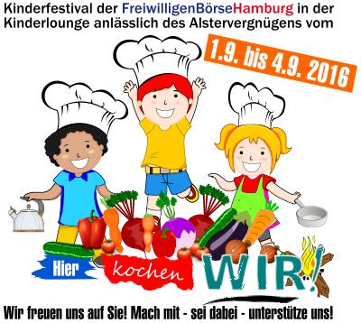 Kinderfestival der FreiwilligenBörseHamburg - Mach mit - sei dabei - unterstütze uns!