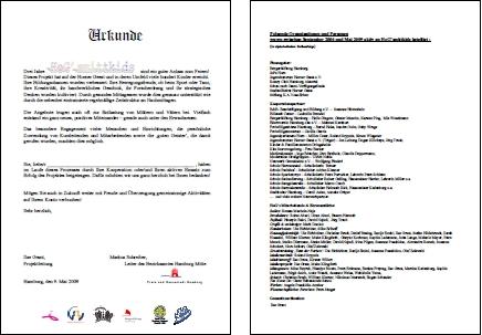 Freiwilligenbörse Hamburg erhält Urkunde