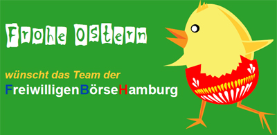 Die FreiwilligenBörseHamburg wünscht frohe Ostern!