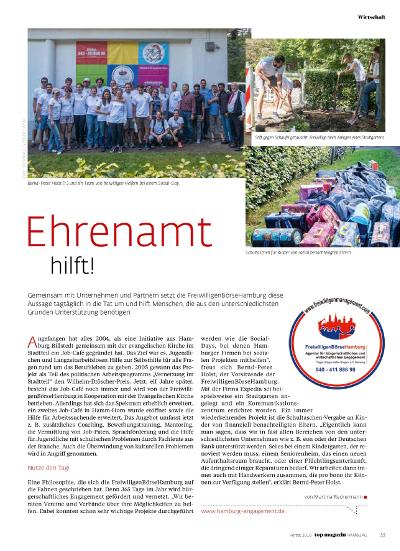 FreiwilligenB�rseHamburg im TOP Magazin Hamburg
