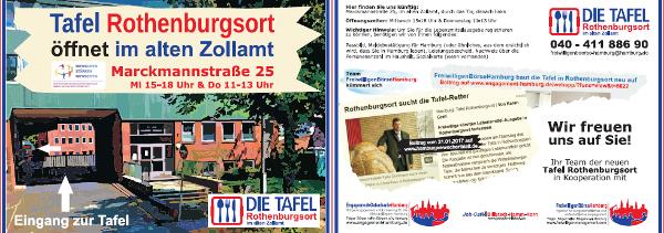 Helfer für die neue Tafel Rothenburgsort gesucht