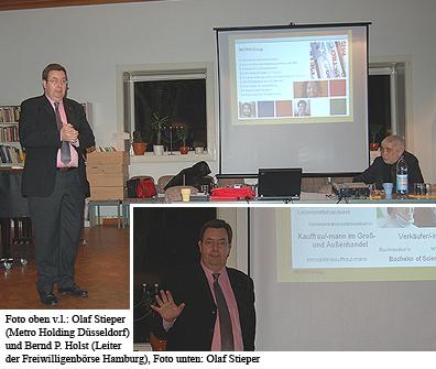 Olaf Stieper, Chef der Ausbildungsplanung in der Metro Holding Düsseldorf, zu Gast in der Reihe Rund um den Arbeitsmarkt