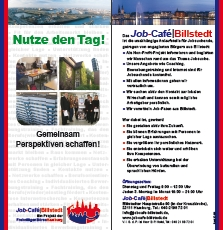 Neuer Flyer für das Job-Cafè
